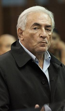 Dominique Strauss-Kahn makes a face while in court to face charges that he assaulted a maid at a New York hotel. VIDEO: IMF Chief Accused of Criminal Sex Act