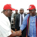 DEPUTY GOV. IMO STATE, PRINCE EZE MADUMERE MFR RECEIVES HIS BOSS, HIS EXCELLENCY, THE GOV. OF IMO STATE, OWELLE ROCHAS OKOROCHA