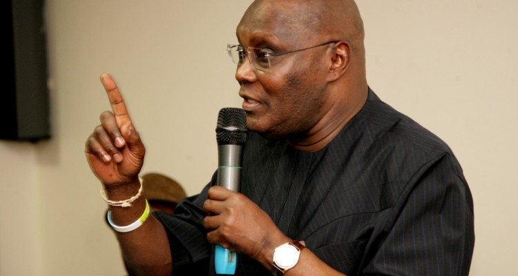 Former Vice President and chieftain  of All Progressives Congress (APC), Atiku Abubakar making his remarks at a meeting with members of the APC (South-south) from Cross Rivers, Akwa Ibom and Delta states in Abuja on Tuesday.