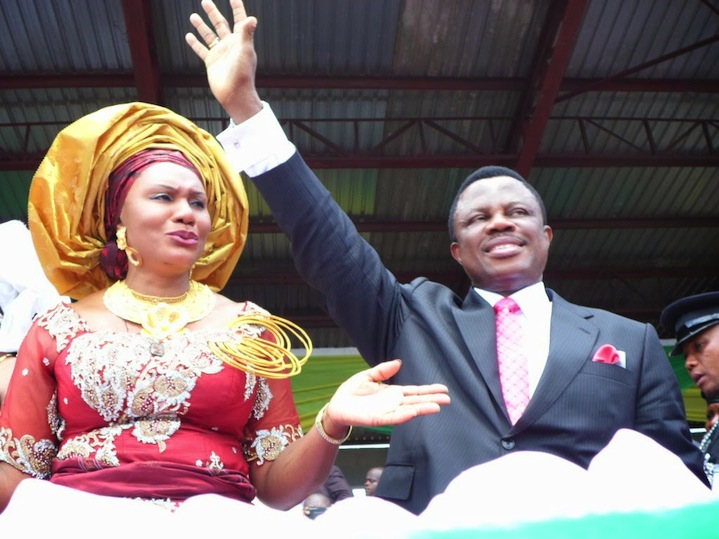Governor-Willie-Obiano-and-his-wife-Chief-Ebere-Obiano-during-the-grand-take-over-yesterday