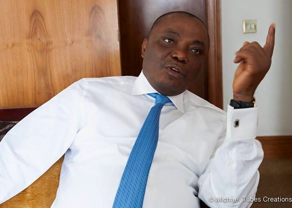 Peter Nwaoboshi today lost temporarily his 12-storey building at 27 Marine Road Apapa to the Federal Government.