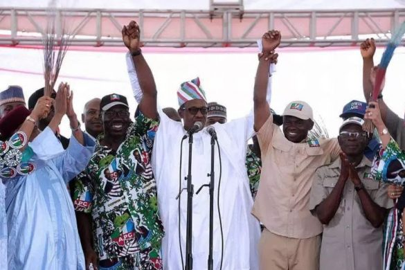 Buhari-Congratulates-Obaseki-and-Oshiomhole-of-EDO-Na-GOD-WIN
