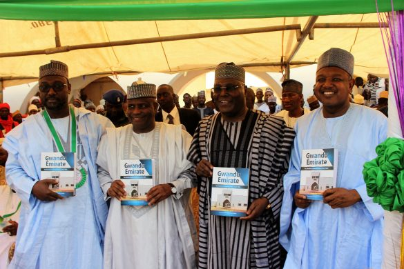 L-R: Niger State Governor, Abubakar Sani Bello, Governor Aminu Waziri Tambuwal of Sokoto State, former Vice President Atiku Abubakar and Kebbi State Governor Abubakar Atiku Bagudu at the occasion of the 7th Abdullahi Fodio Merit Award held in Birnin Kebbi...Saturday 21/01/17