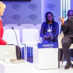 His Excellency Vice President Prof Yemi Osinbajo with Ms. Brownwyn Nielsen, CNBC Africa Anchor during the One-on-One Session. Photo by: Novo Isioro